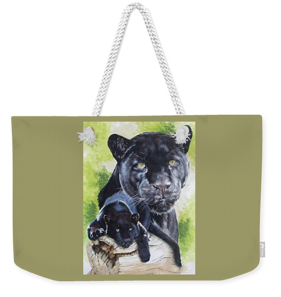 Weekender Tote Bag featuring the mixed media Melancholy by Barbara Keith