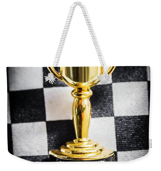 Melbourne Cup Pin On Mens Chequered Fashion Tie Weekender Tote Bag