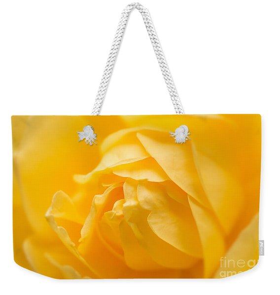 Mellow Yellow Rose Weekender Tote Bag