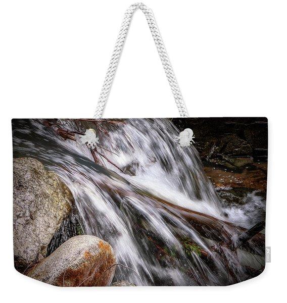 Melting Snow Falls Weekender Tote Bag