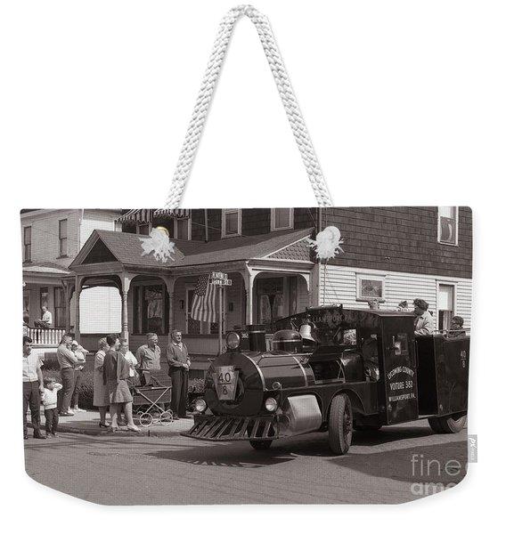 Memorial Day Parade  Ashley Pa  Corner Of W Hartford And Brown  Circa 1965 Weekender Tote Bag