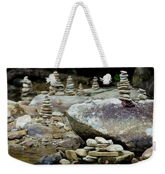 Memorial Stacked Stones Weekender Tote Bag