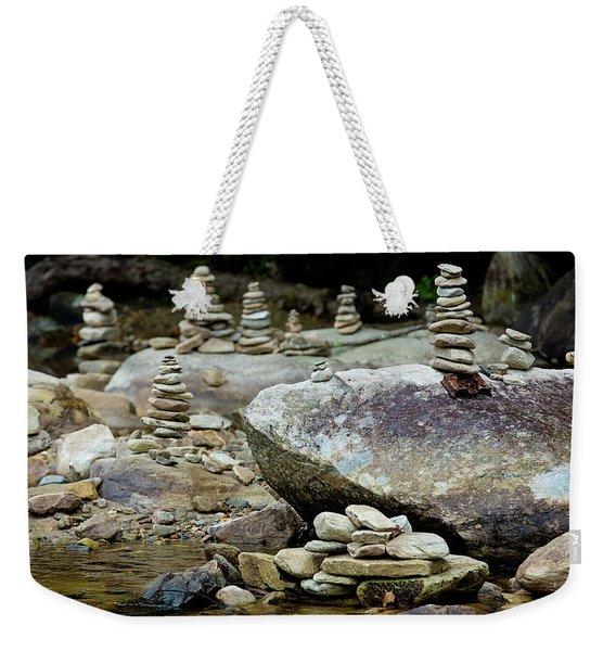 Memorial Stacked Stones Weekender Tote Bag