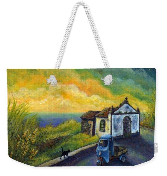 Memories Neath A Yellow Sky Weekender Tote Bag