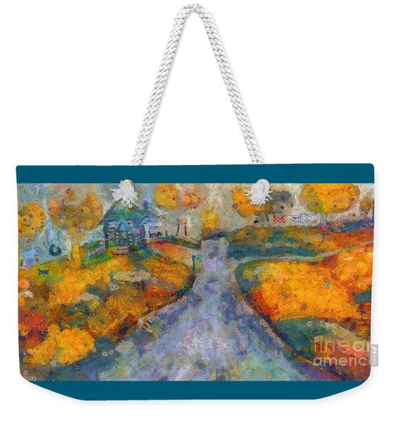 Memories Of Home In Autumn Weekender Tote Bag