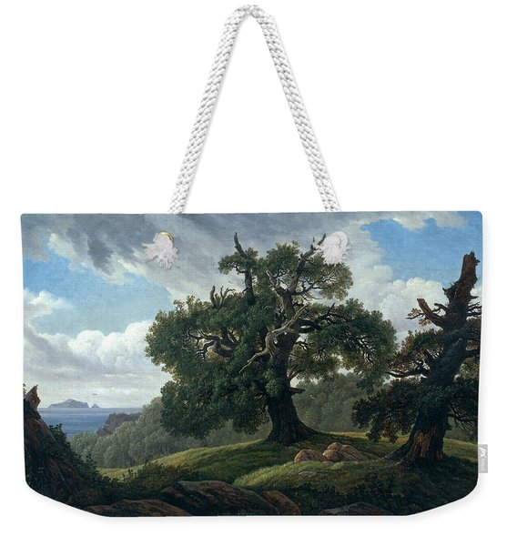 Memory Of A Wooded Island In The Baltic Sea. Oak Trees By The Sea  Weekender Tote Bag