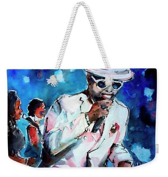 Memphis Music Legend William Bell On Stage 1 Weekender Tote Bag