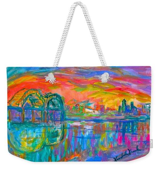 Memphis Spin Weekender Tote Bag