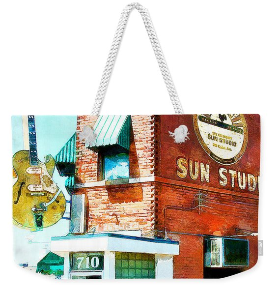 Memphis Sun Studio Birthplace Of Rock And Roll 20160215wcstyle Weekender Tote Bag