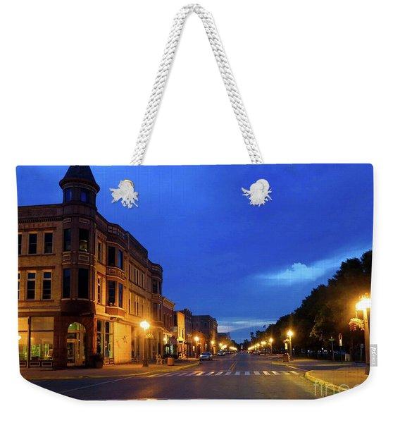 Menominee Michigan Night Lights Weekender Tote Bag