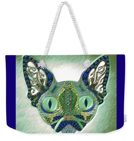 Meow Cat Weekender Tote Bag
