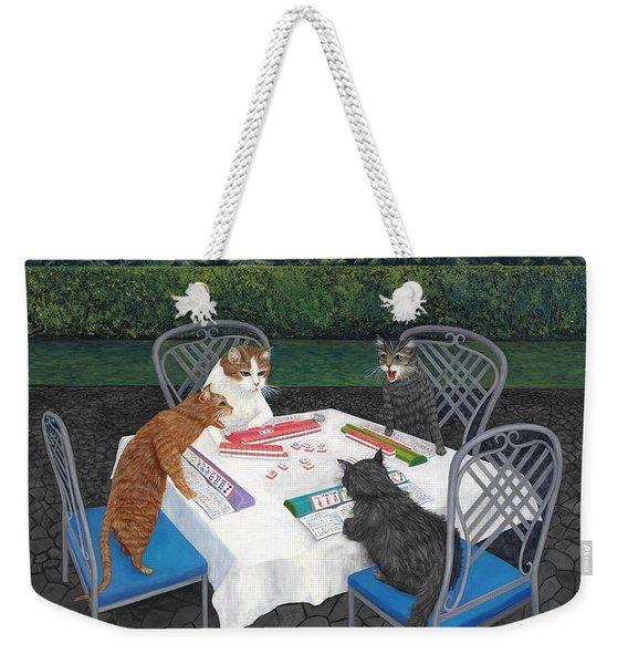 Meowjongg - Cats Playing Mahjongg Weekender Tote Bag