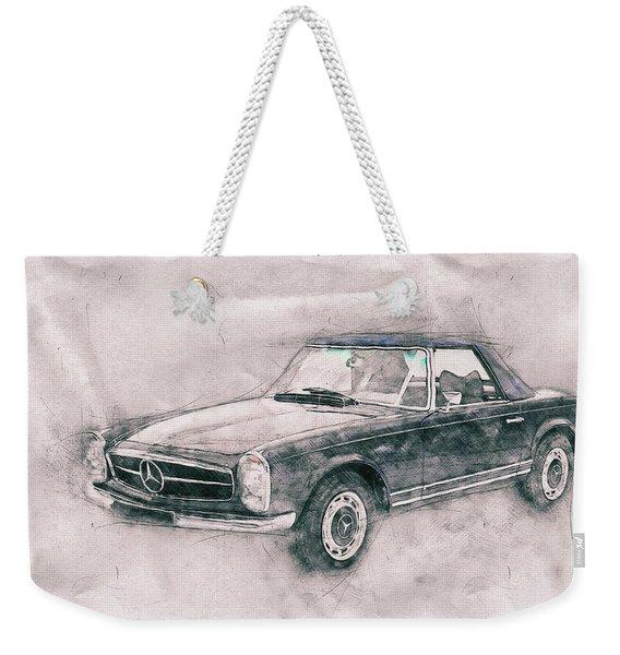 Mercedes-benz 280sl Roadster 1 - 1967 - Automotive Art - Car Posters Weekender Tote Bag