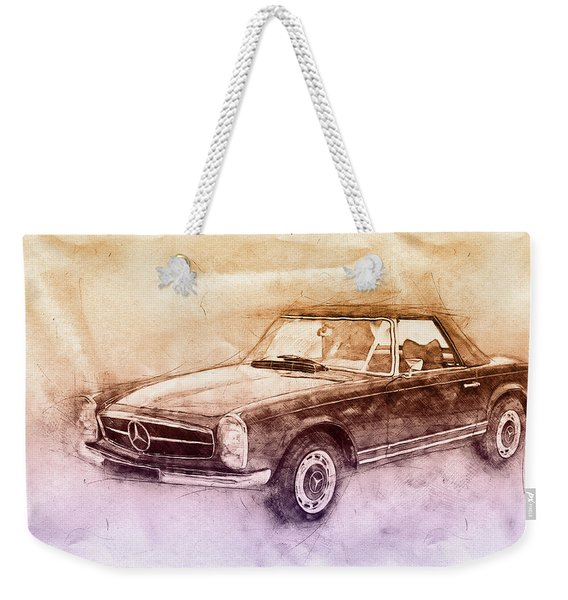 Mercedes-benz 280sl Roadster 2 - 1967 - Automotive Art - Car Posters Weekender Tote Bag