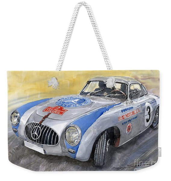 Mercedes Benz 300 Sl 1952 Carrera Panamericana Mexico  Weekender Tote Bag