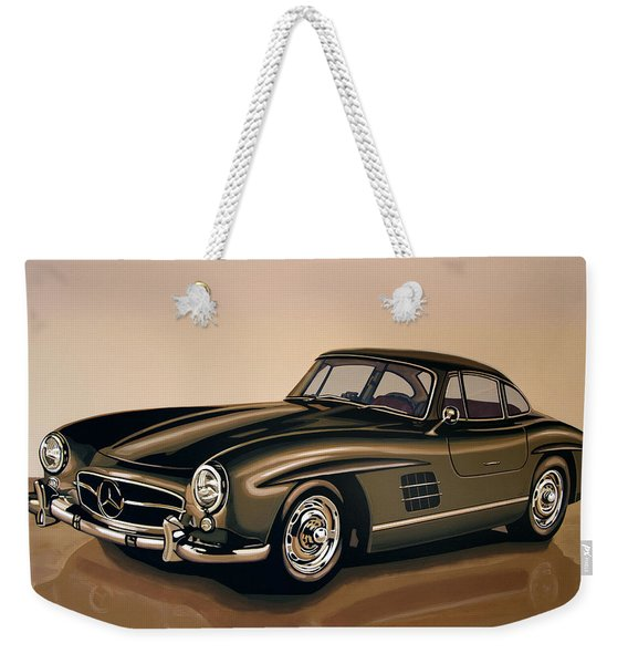 Mercedes Benz 300 Sl 1954 Painting Weekender Tote Bag