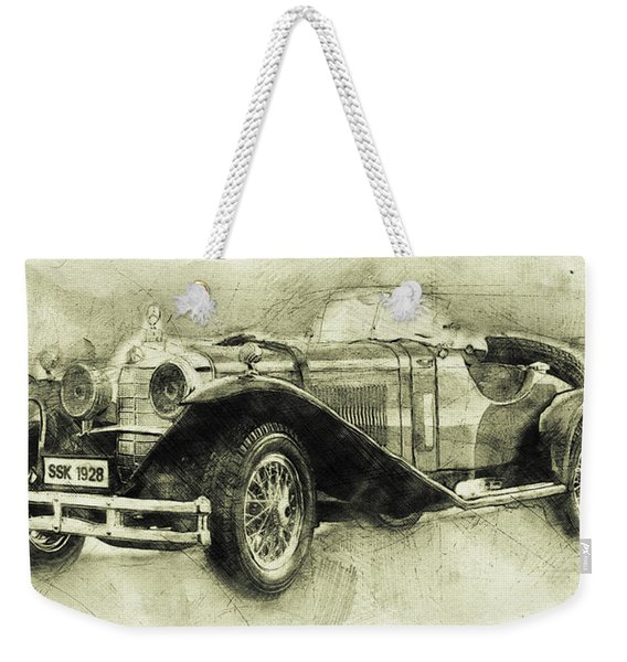 Mercedes-benz Ssk 1 - 1928 - Automotive Art - Car Posters Weekender Tote Bag