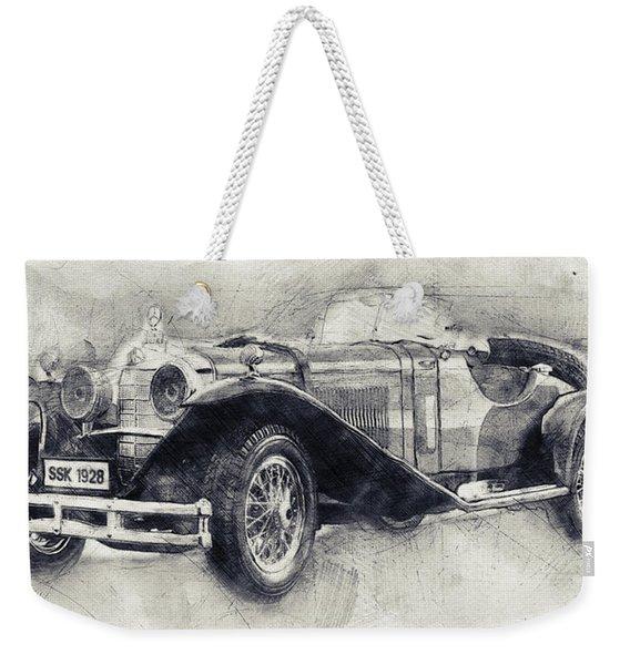 Mercedes-benz Ssk - 1928 - Automotive Art - Car Posters Weekender Tote Bag