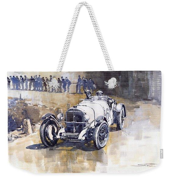 Mercedes Benz Ssk 1930 Rudolf Caracciola Weekender Tote Bag