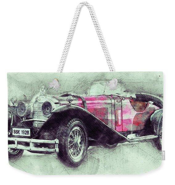 Mercedes-benz Ssk 3 - 1928 - Automotive Art - Car Posters Weekender Tote Bag