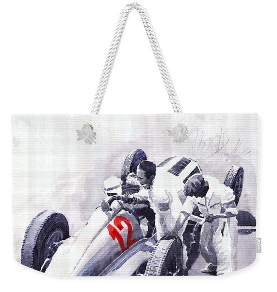 Mercedes Benz W125 Rudolf Caracciola The German Grand Prix Nurburgring 1937  Weekender Tote Bag