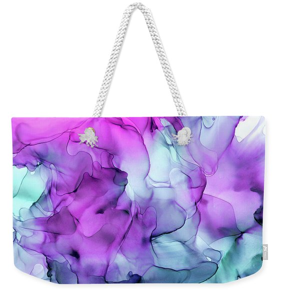 Mermaid Abstract Ink Painting Weekender Tote Bag