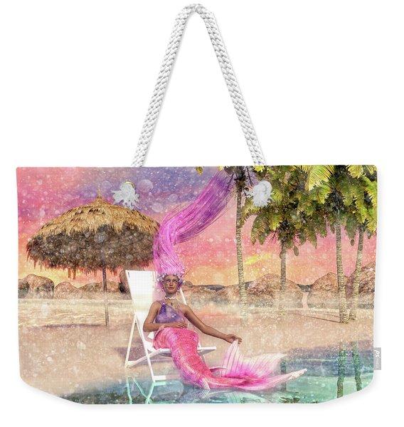 Mermaid By The Sea Weekender Tote Bag