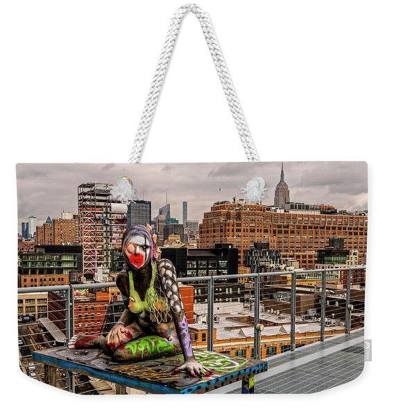 Mermaid On The Whitney Weekender Tote Bag