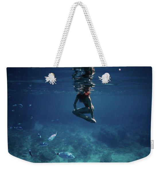 Mermaid Pose Weekender Tote Bag