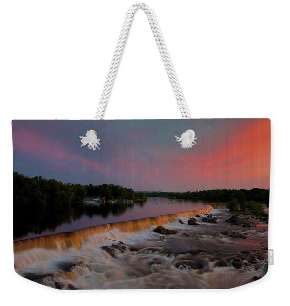 Merrimack River Falls Weekender Tote Bag