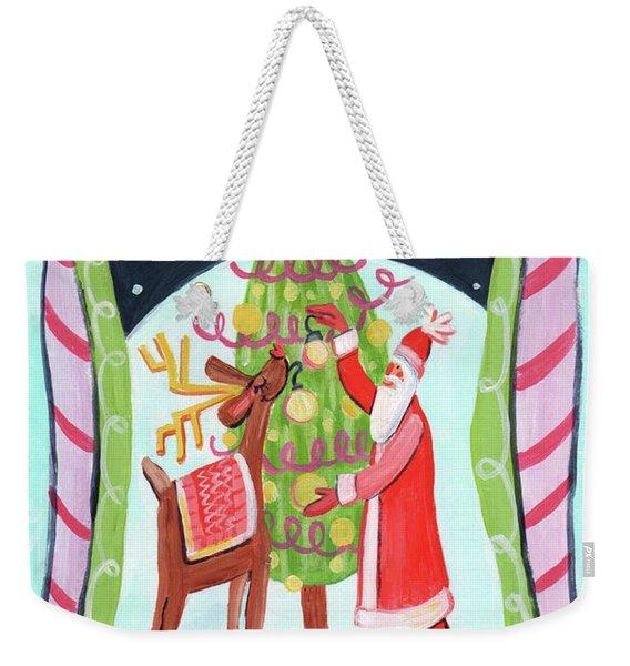 Merry And Bright Weekender Tote Bag