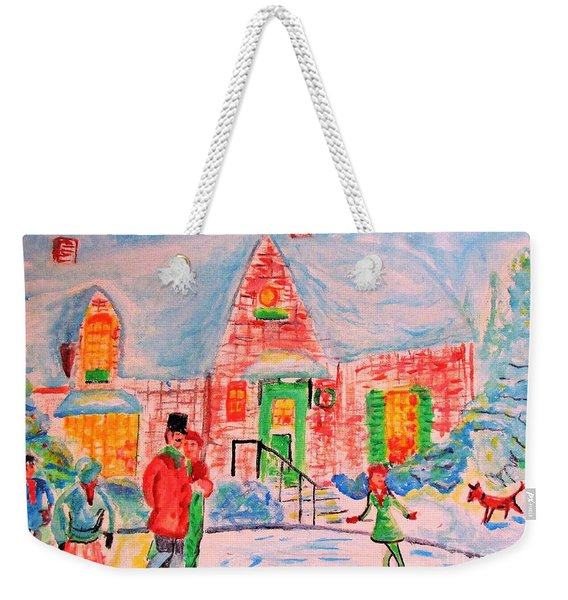 Merry Christmas And Happy Holidays Weekender Tote Bag