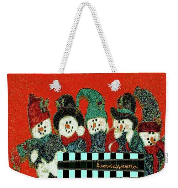 Merry Christmas Art 45 Weekender Tote Bag