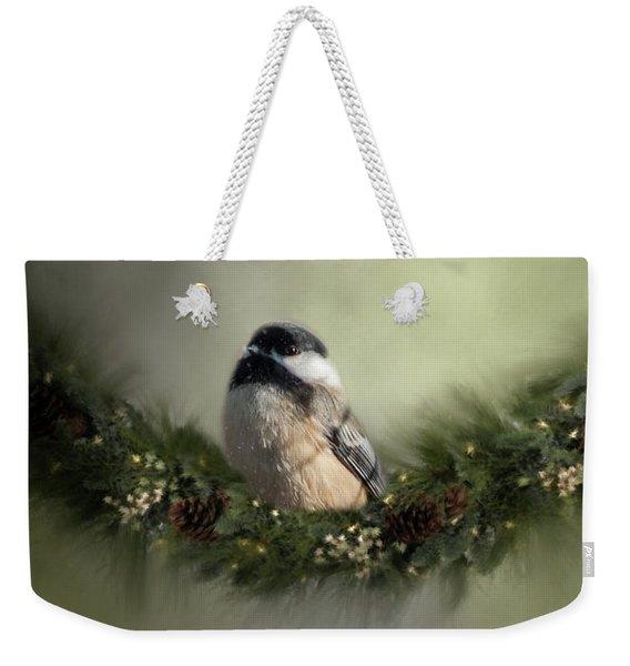 Merry Christmas Chicadee 1 Weekender Tote Bag
