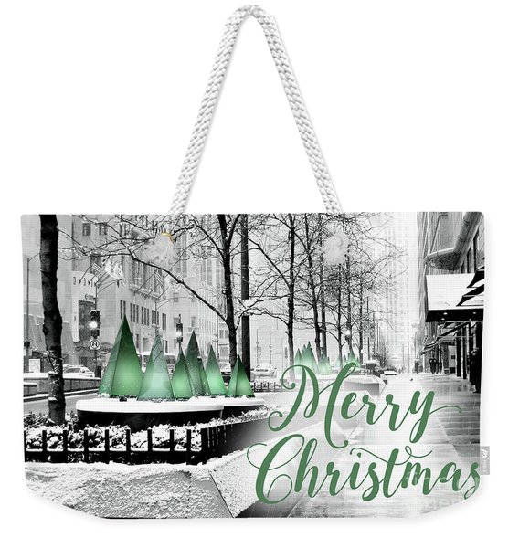 Merry Christmas Chicago Weekender Tote Bag