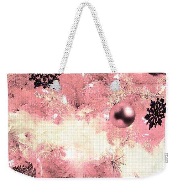 Merry Christmas In Pink Weekender Tote Bag