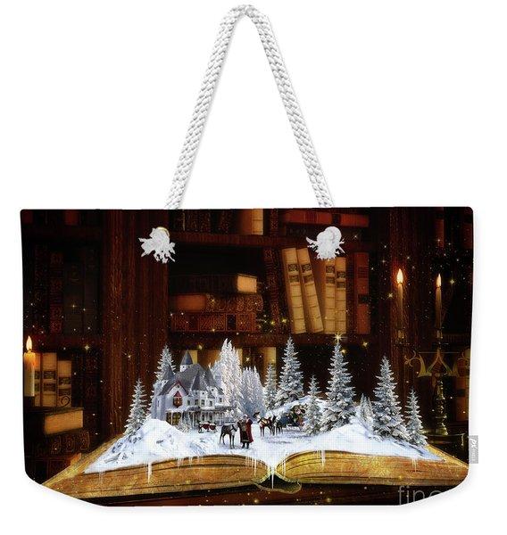 Merry Christmas Scene Weekender Tote Bag