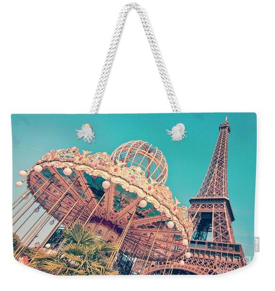 Merry Go Paris Weekender Tote Bag
