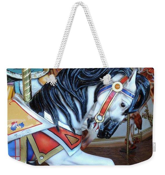 Merry Go Round Horses - Carnival Festival Fair Prints Home Decor - Carousel Horses Weekender Tote Bag