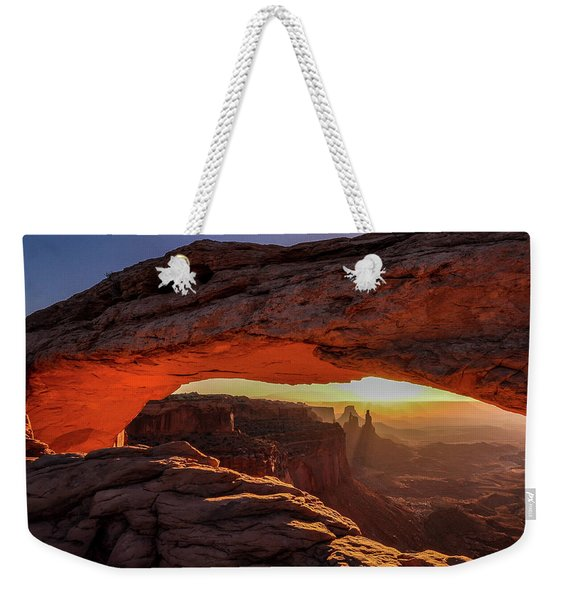 Mesa Arch At Sunrise 1, Canyonlands National Park, Utah Weekender Tote Bag
