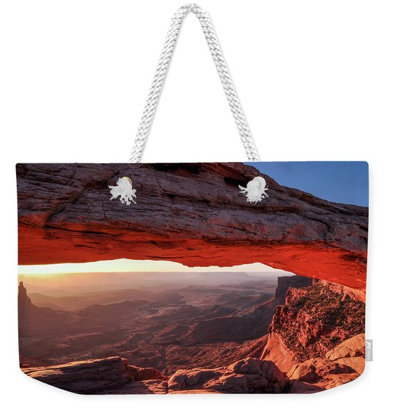Mesa Arch At Sunrise 2, Canyonlands National Park, Utah Weekender Tote Bag