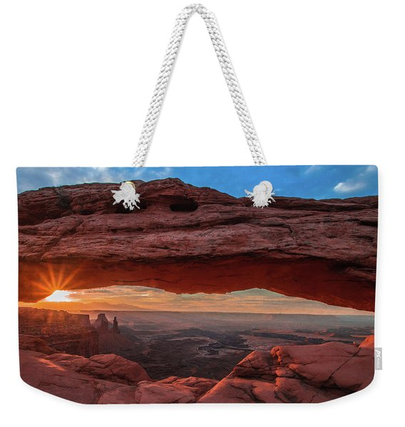 Mesa Arch At Sunrise 3, Canyonlands National Park, Utah Weekender Tote Bag