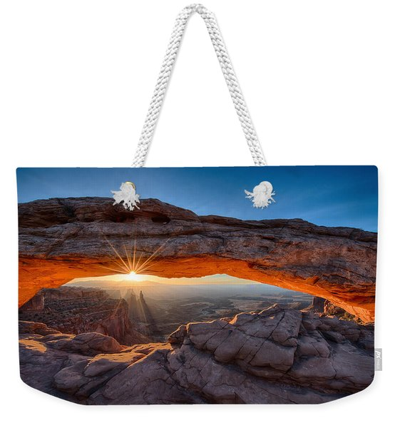 View Through The Mesa Arch At  Sunrise Weekender Tote Bag