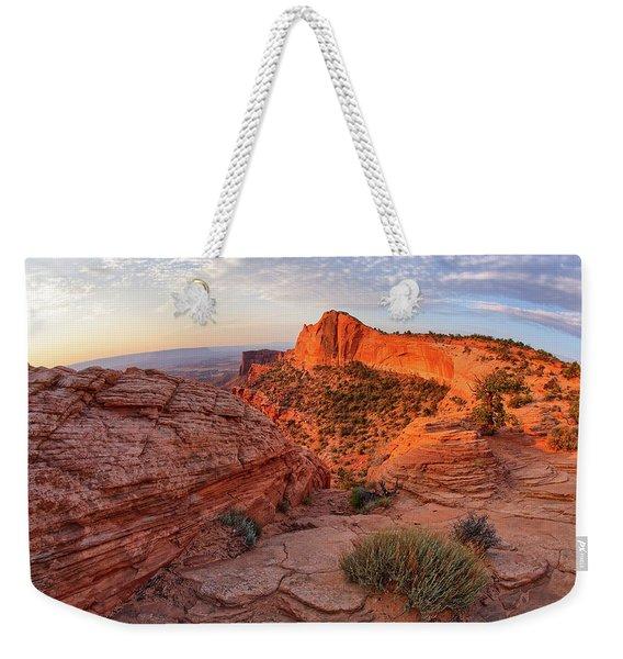 Mesa Arch Overlook At Dawn Weekender Tote Bag