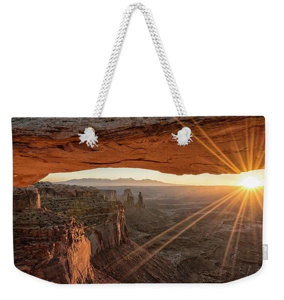 Mesa Arch Sunrise 4 - Canyonlands National Park - Moab Utah Weekender Tote Bag