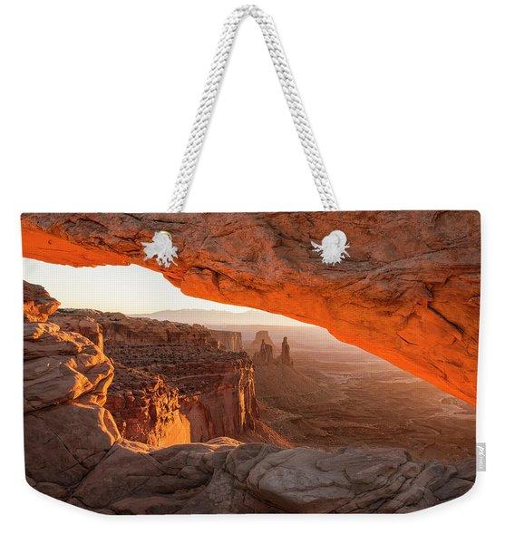 Mesa Arch Sunrise 5 - Canyonlands National Park - Moab Utah Weekender Tote Bag
