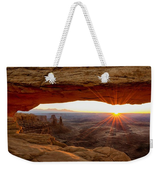 Mesa Arch Sunrise - Canyonlands National Park - Moab Utah Weekender Tote Bag