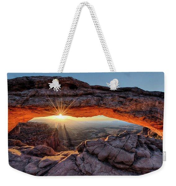 Mesa Arch Sunburst By Olena Art Weekender Tote Bag