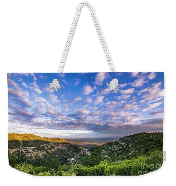 Mesa Verde Morning Clouds Weekender Tote Bag