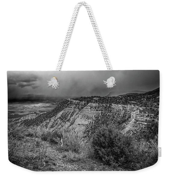 Mesa Verde National Park Colorado Usa Bw Weekender Tote Bag